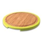 Разделочная доска BergHOFF Studio (25x25) бамбуковая, круглая, с силиконовым ободом