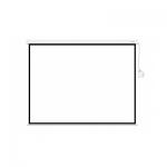 Экран механический, Deluxe, DLS-M305W, Настенный/потолочный, Рабочая поверхность 297х297 см., 1:1, Matt white, Белый