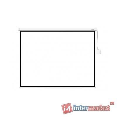 Экран моторизированный (с пультом Д/У), Deluxe, DLS-ERC406x305W, Настенный/потолочный, Рабочая поверхность 394х295, 4:3, Matt white, Белый