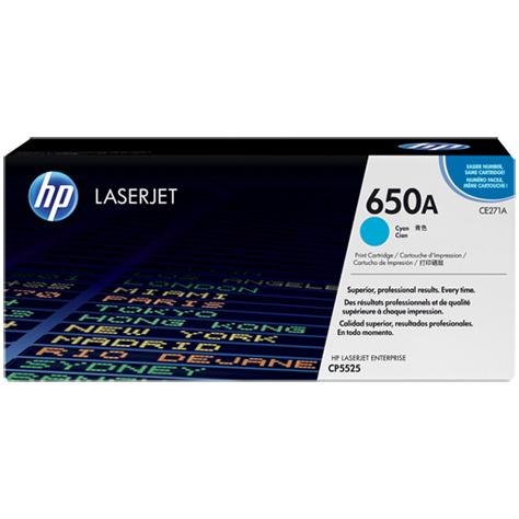 Оригинальный лазерный картридж HP LaserJet HP 650A CE271A