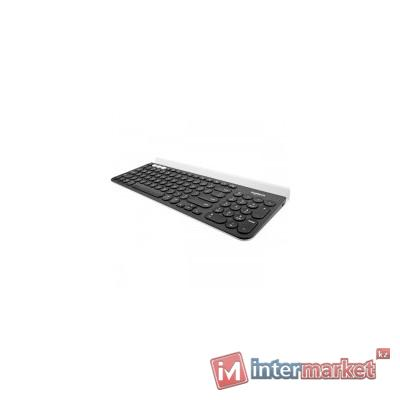 Клавиатура беспроводная Logitech K780 (DARK GREY/SPECKLED WHITE, Multi-Device, Bluetooth Smart/Logitech Unifying, 2 батарейки типа ААА)