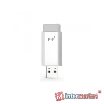 Флешка 32GB 2.0 PQI 6176-032GR3001 белый серый
