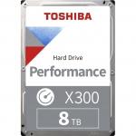 """Жесткий диск HDD 8Tb TOSHIBA X300 SATA 6Gb/s 7200rpm 256Mb 3,5"""" HDWR480UZSVA, Разработан специально для вашего рабочего или игрового компьютера,"""